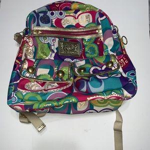 Coach Poppy Backpack Bag